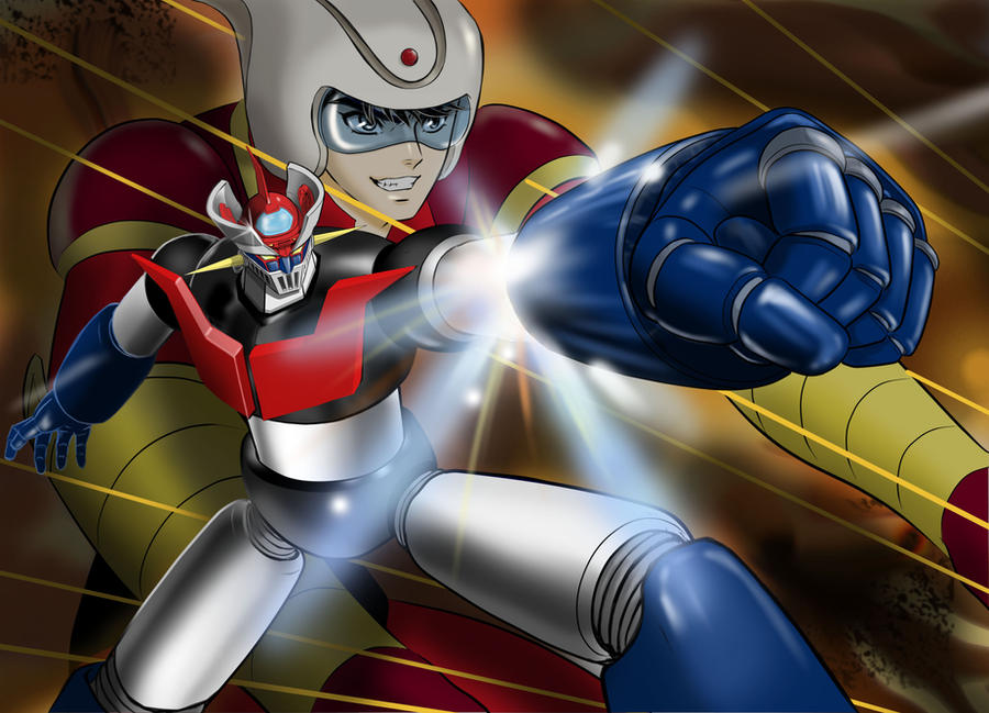 Mazinger Z and Koji by ieko2011