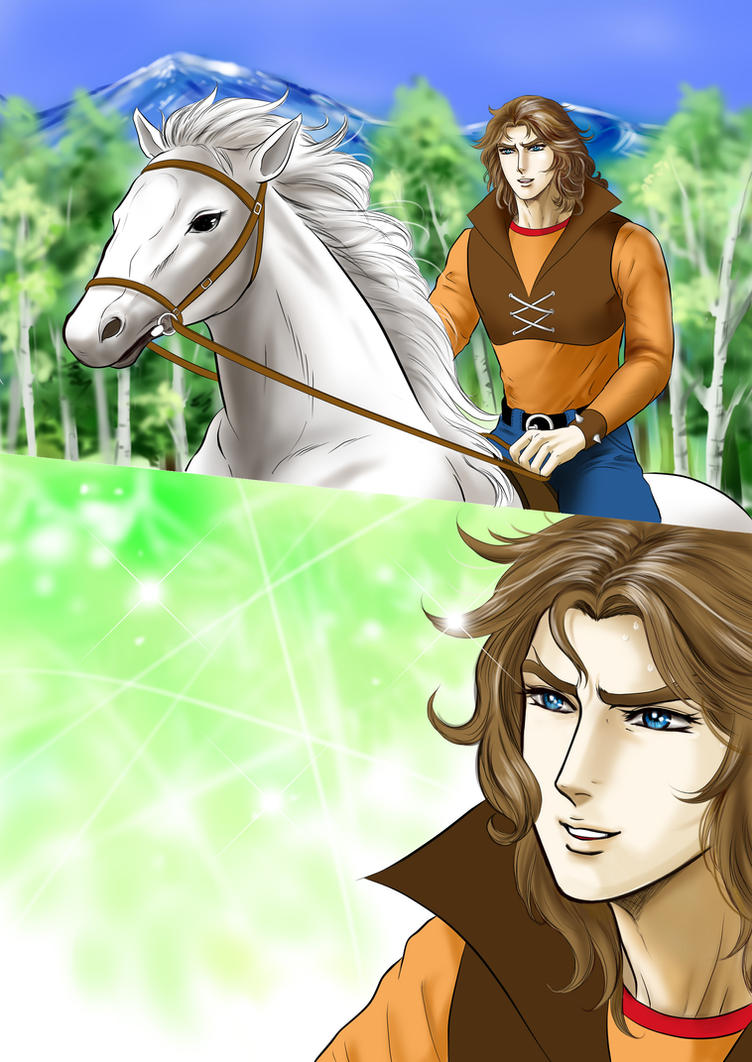 Actarus / Le Prince d'Euphor / Duke Fleed - Page 2 Duke_and_his_horse_by_ieko2011-d50t631