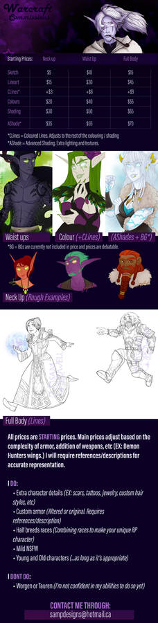 WOW Commission Info (STATUS: OPEN)