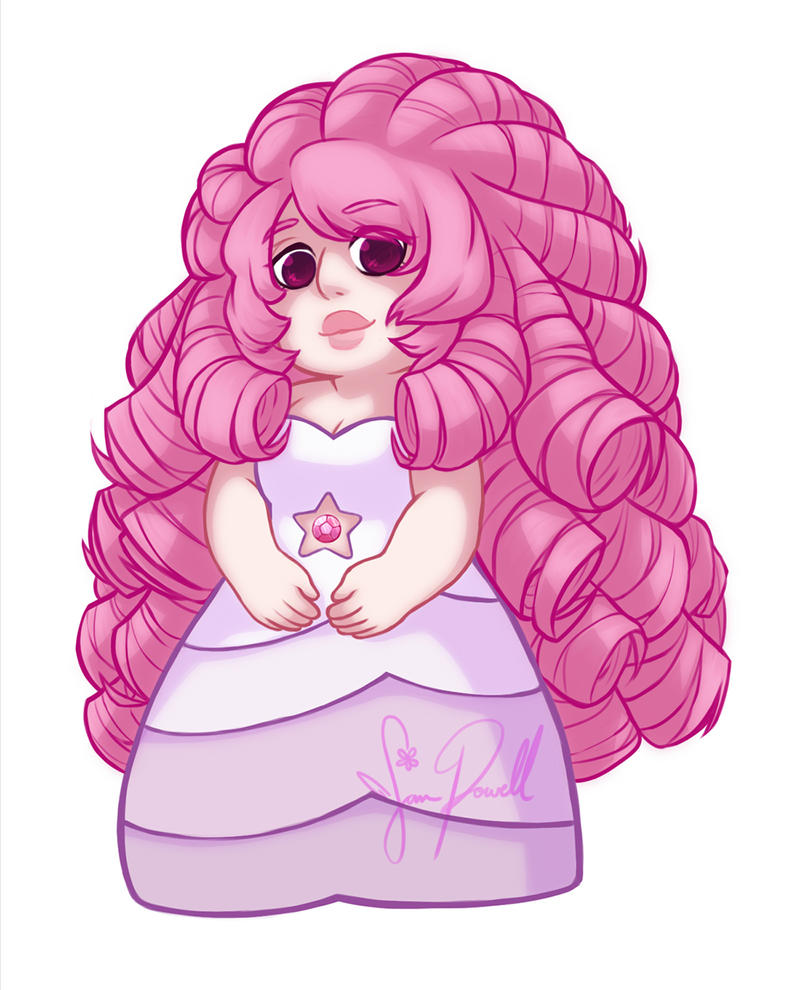 I'm making a LOT of Steven Universe stickers this year for my next conventions. A few of the characters will have multiple stickers. FINALLY, the Rose sticker is complete. Her hair has way more sha...
