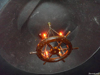Ship Wheel Chandelier by InkTheEchidna