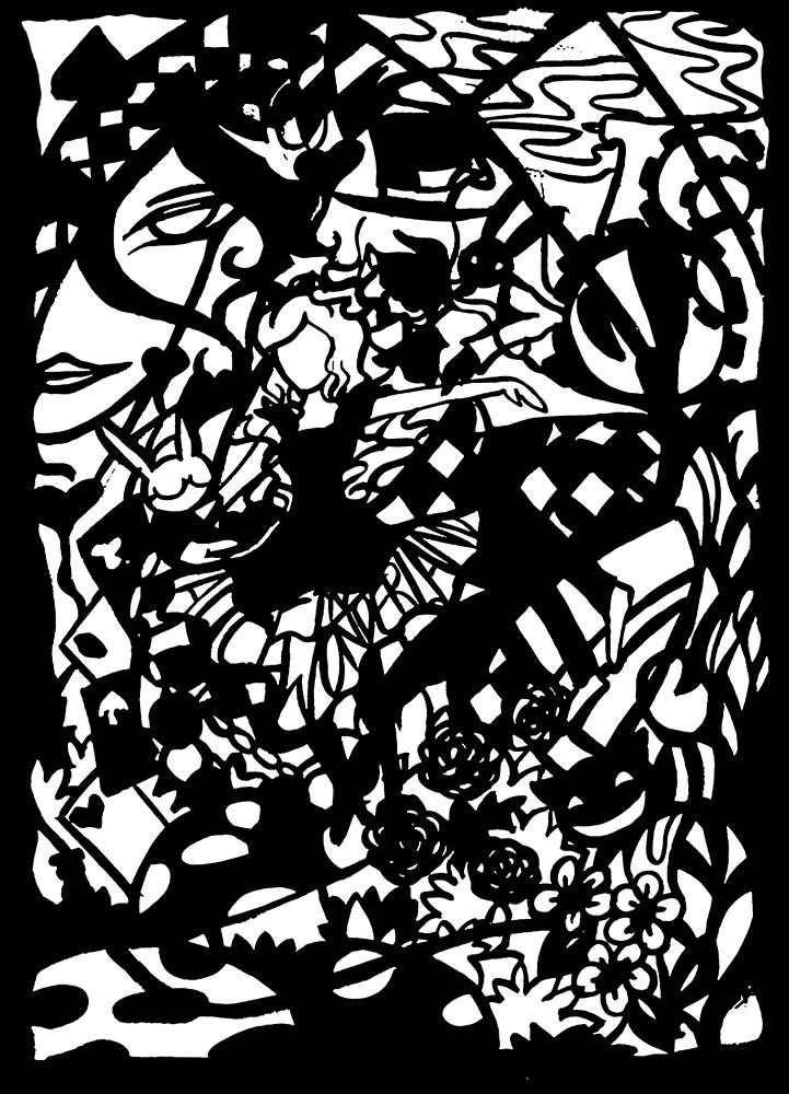 Alice In Wonderland Ink by IChiTa--WiYa