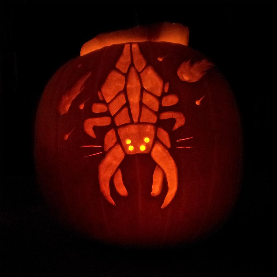 Harbinger's carving through pumpkins by quantumparadigm