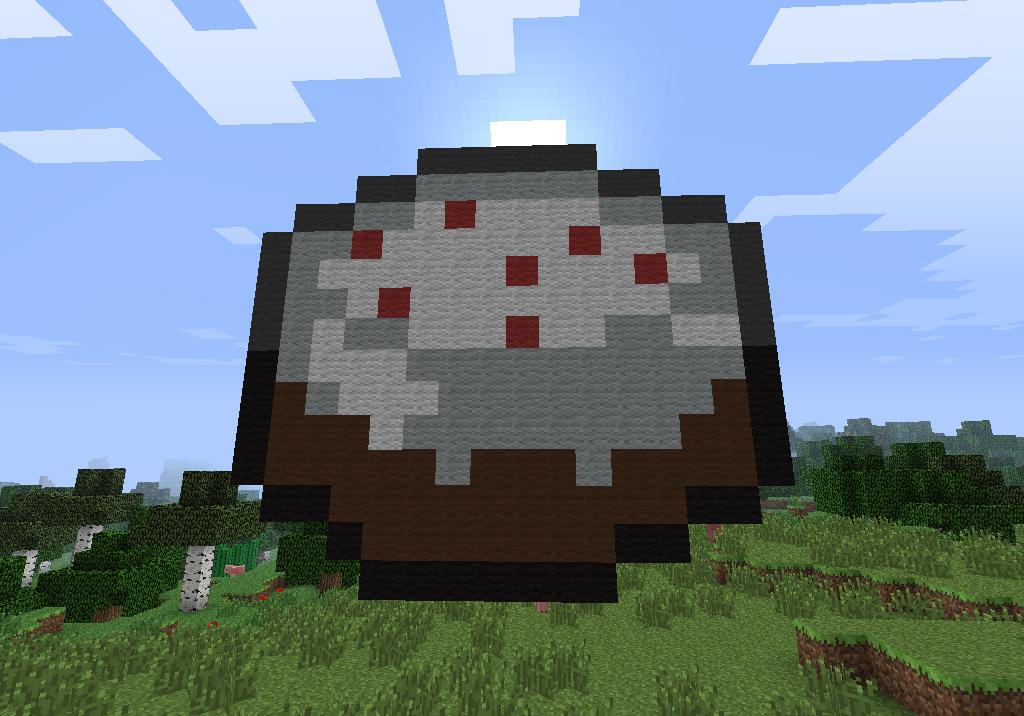 Cake Pixel Art Minecraft : Minecraft Pixel Art Cake by I-Am-CrazyP on DeviantArt