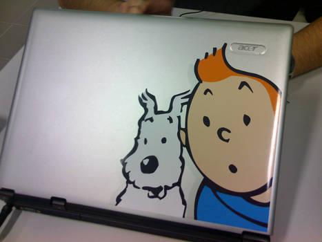 'Laptop Cover - Tintin