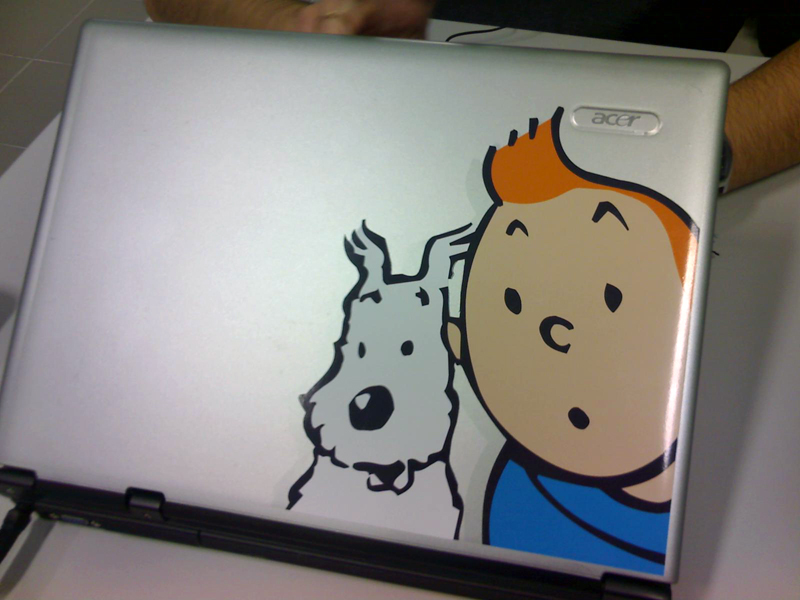 'Laptop Cover - Tintin by canecodesign