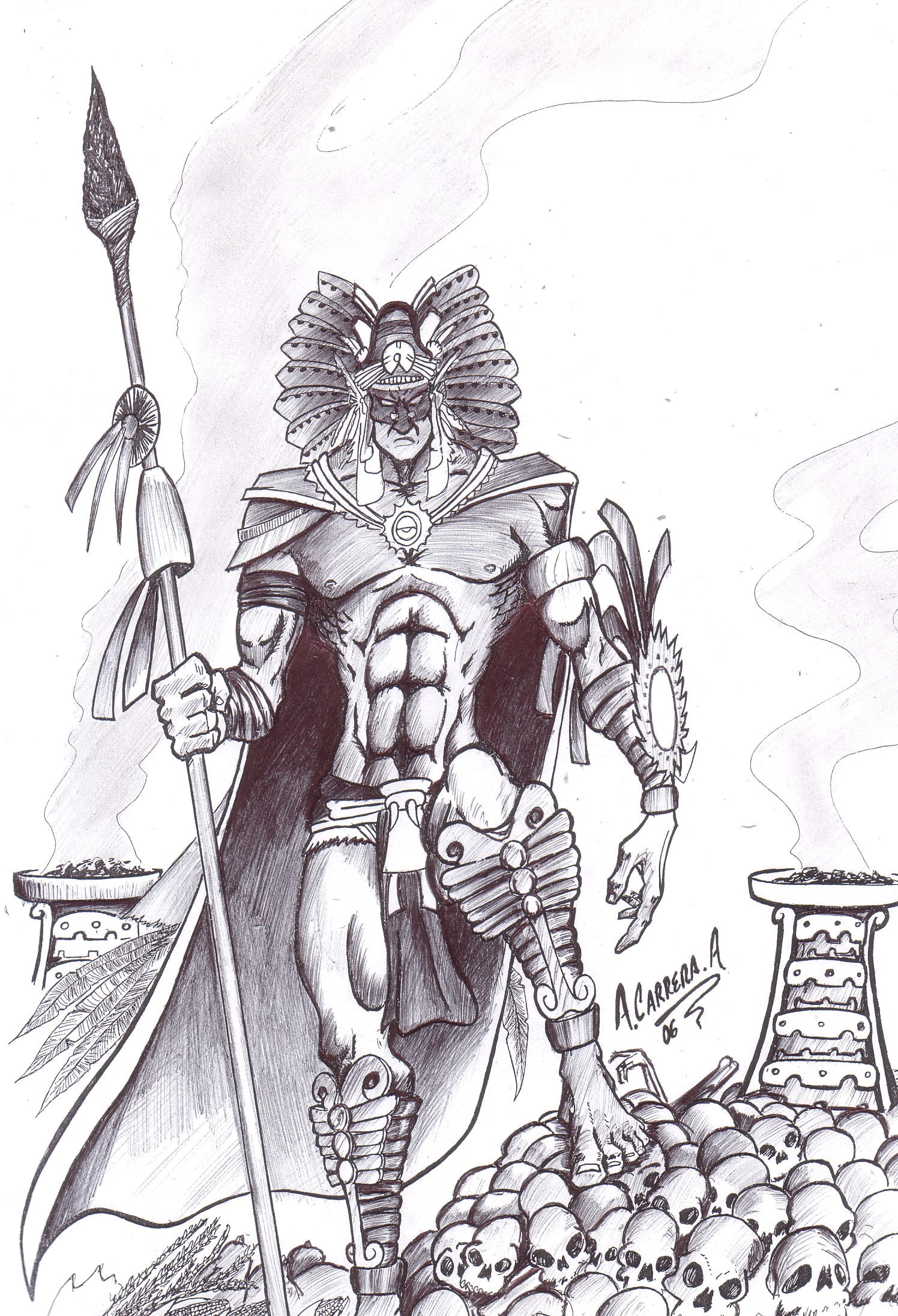 dios de la muerte by AcarreraA on DeviantArt
