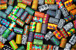 Polymer Clay Beads by acidrainbow01