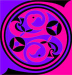Celtic flamingo spiral 01 by acidrainbow01