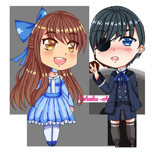 Raina and Ciel by Kohaku-chii