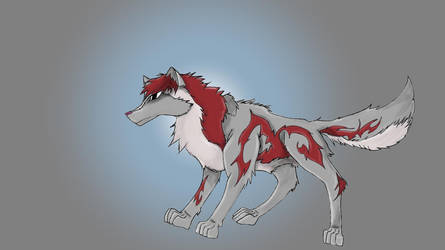 Grey-Red Wolf by Meowify