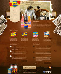 Dad's Classic Sodas Homepage by treecore