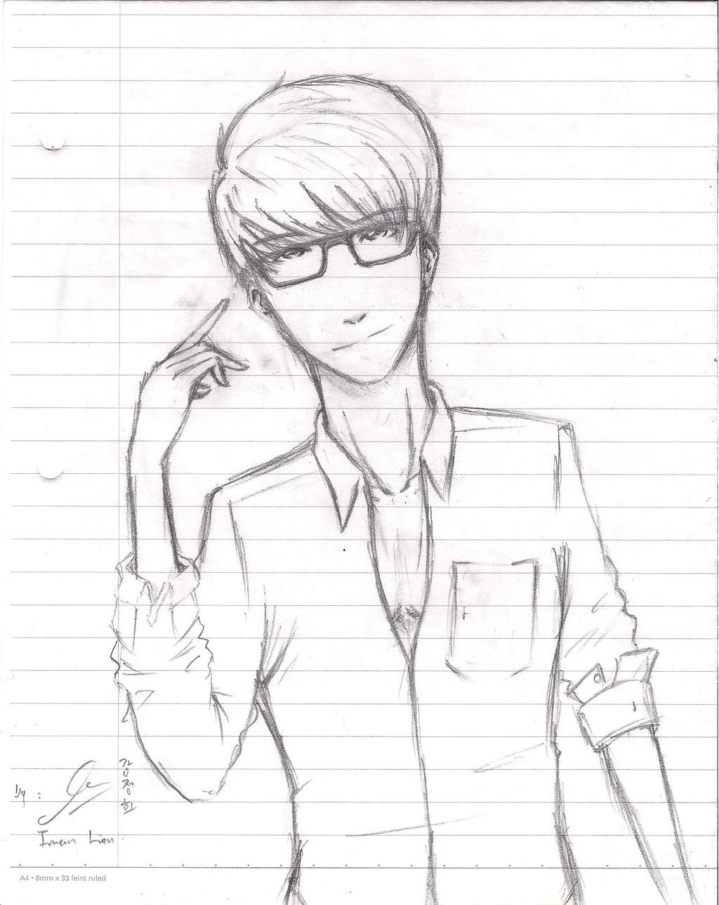 how to draw anime boy legs