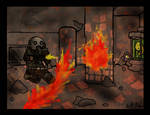 STALKER vs. the fireball by Spectralidax