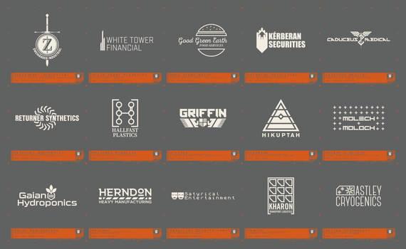 Random Cyberpunk Company Logos
