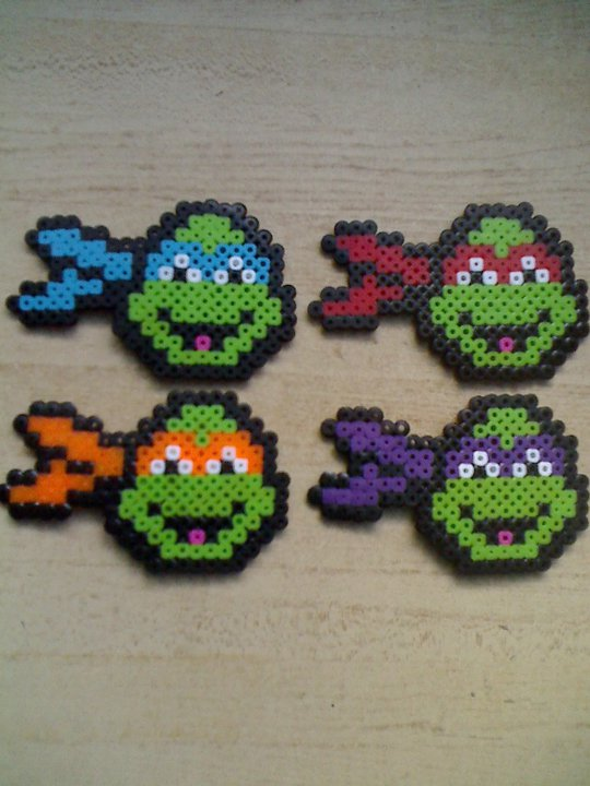 Ninja Turtles perler beads by JohnnyAre