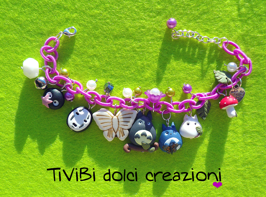 Studio Ghibli inspired Bracelet Totoro by tivibi