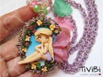 Floral Fairy on cameo