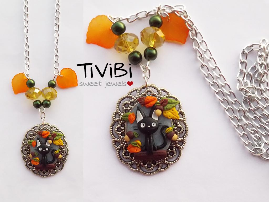 Jiji cameo necklace / Ghibli fanart by tivibi