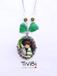 Haku and Chihiro Spirited Away by tivibi