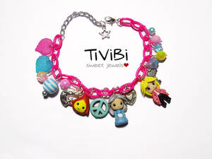Howl's moving castle charm bracelet