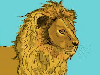 Lion by animalsketchsisfun