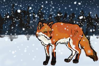 A Winter's Twilight by animalsketchsisfun