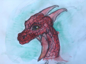 Dragon Face by animalsketchsisfun