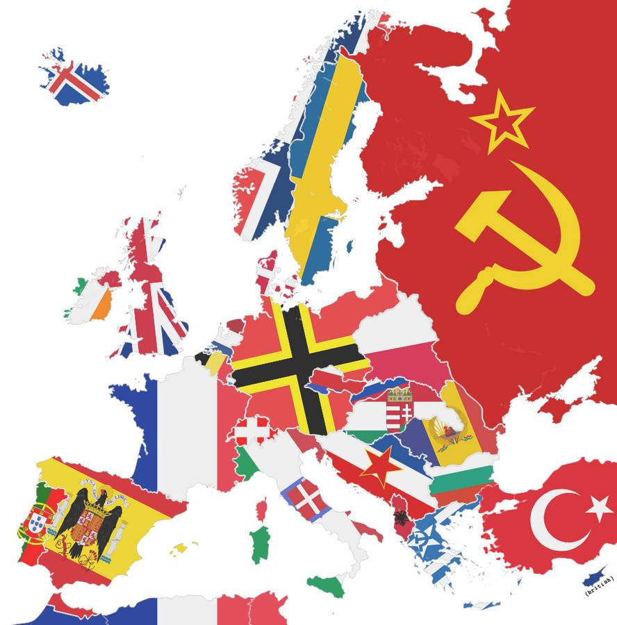 Political Map Of Europe 1945 By Sevgart On Deviantart