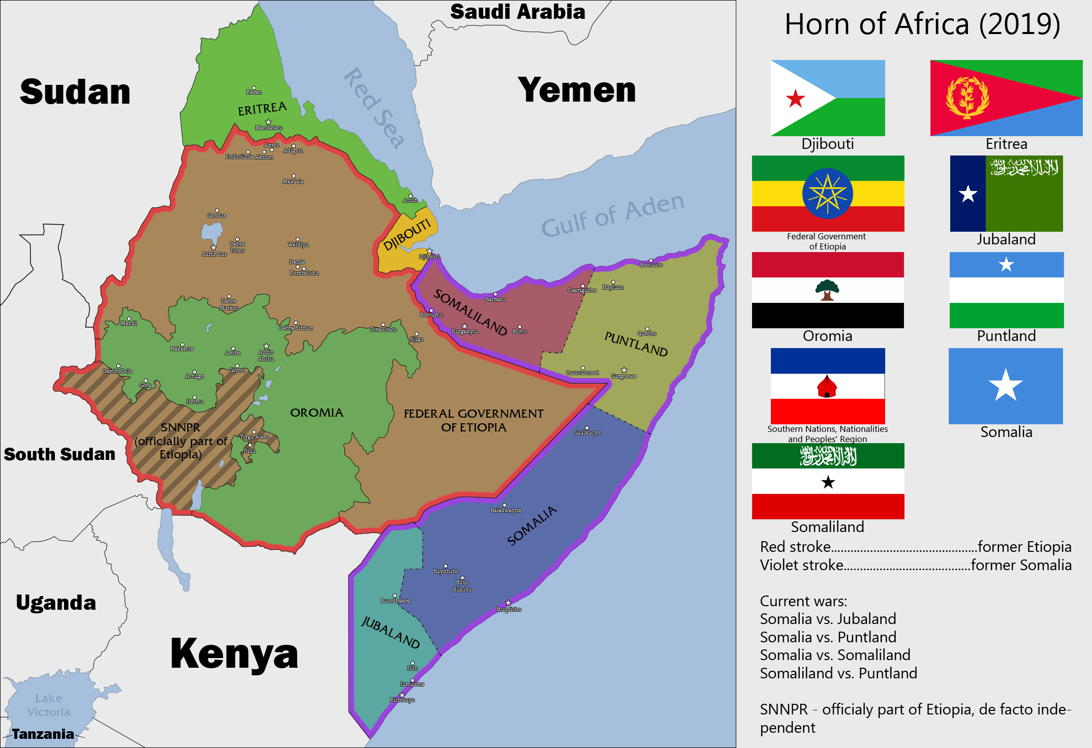 Horn of Africa Map Horn of Africa 2019 by
