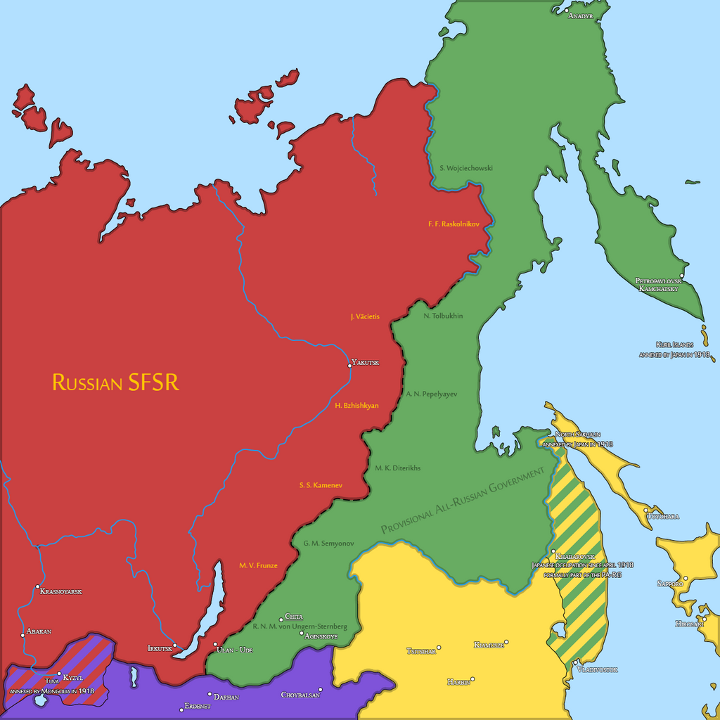 eastern front of the russian civil war 1921 by sevgart