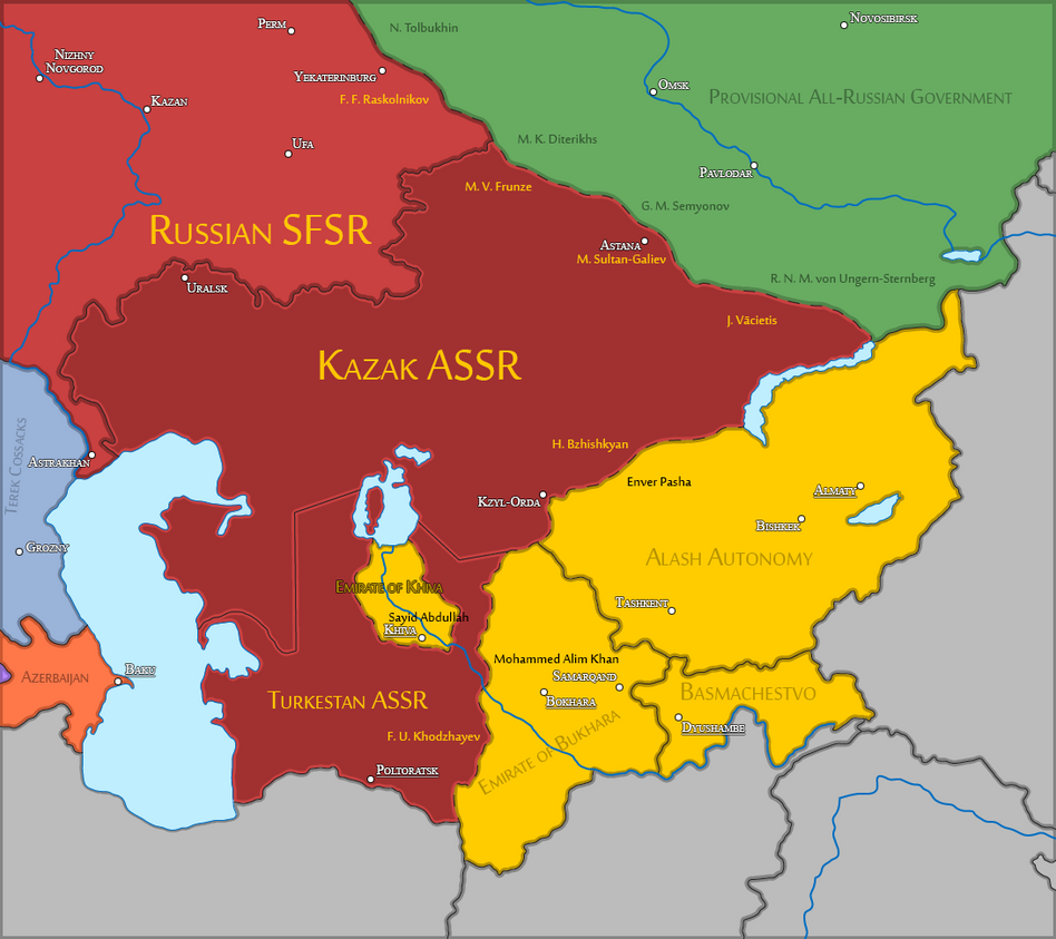 Central Asia (1922) by Sevgart