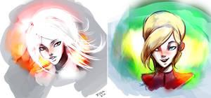 Ush and Sauku by ZoomSix