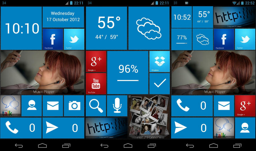 Windows Phone 8 UCCW skins by bagarwa