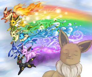 Rainbow Eeveelutions