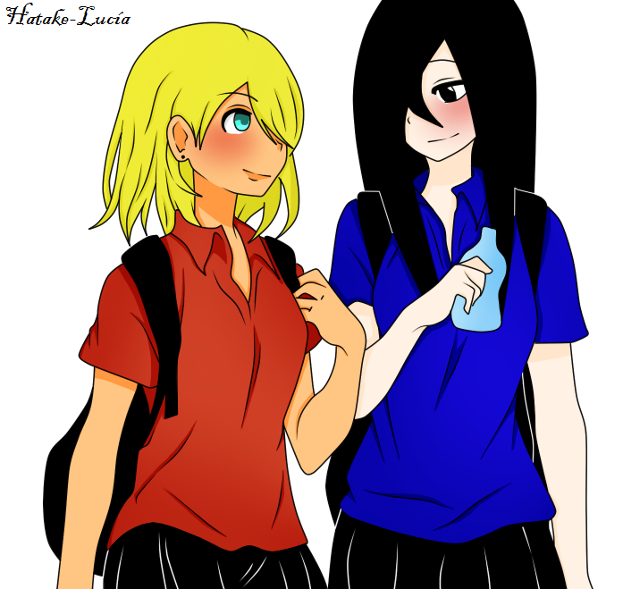 Minako and Lucia// Art Trade// by Hatake-Lucia