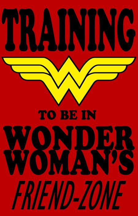 Wonder Woman Friend-Zone tshirt by The-Chosen-Millenium