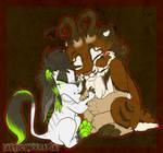 HUGS Lupe and Keeatah by Wolf-Lisa