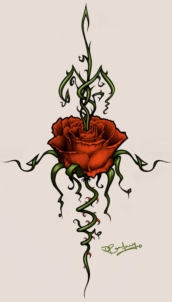 Rose thorns tat design by ever elusive kudos on deviantart for Rose with thorns tattoo