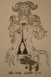 Pan's Labyrinth Tree Inktober 16, 2014 by AshleyWass