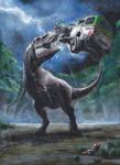 Jurassic Park novel illustration