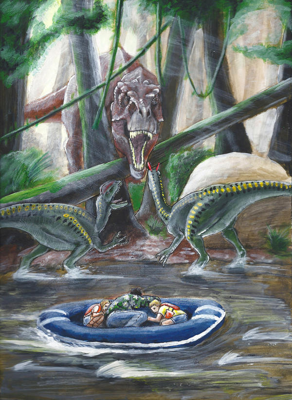 Visualize the Novels  Jurassic_park_novel_illustration__2_by_eatalllot-d9xci96