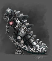 The Metal God, Mechagodzilla upgrade by eatalllot