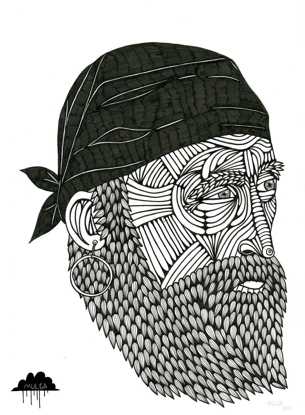 Old Sea Captain Drawing Mulga Old Sea Dog Drawing
