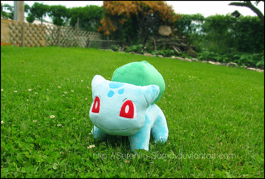 Plushie: Bulbasaur - Pokemon by Serenity-Sama