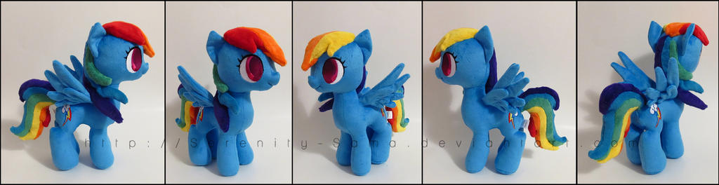 Plushie: Blind Rainbow Dash - My Little Pony: FiM by Serenity-Sama