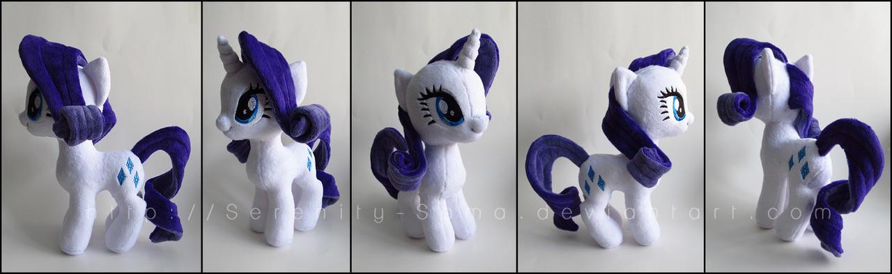 Plushie: Rarity - My Little Pony: FiM by Serenity-Sama