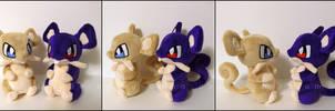 Plushie: Rattata + Shiny Rattata - Pokemon