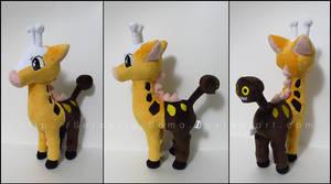 Plushie: Girafarig by Serenity-Sama