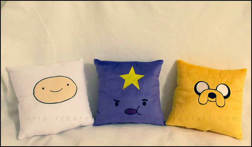 Adventure Time Pillows by Serenity-Sama